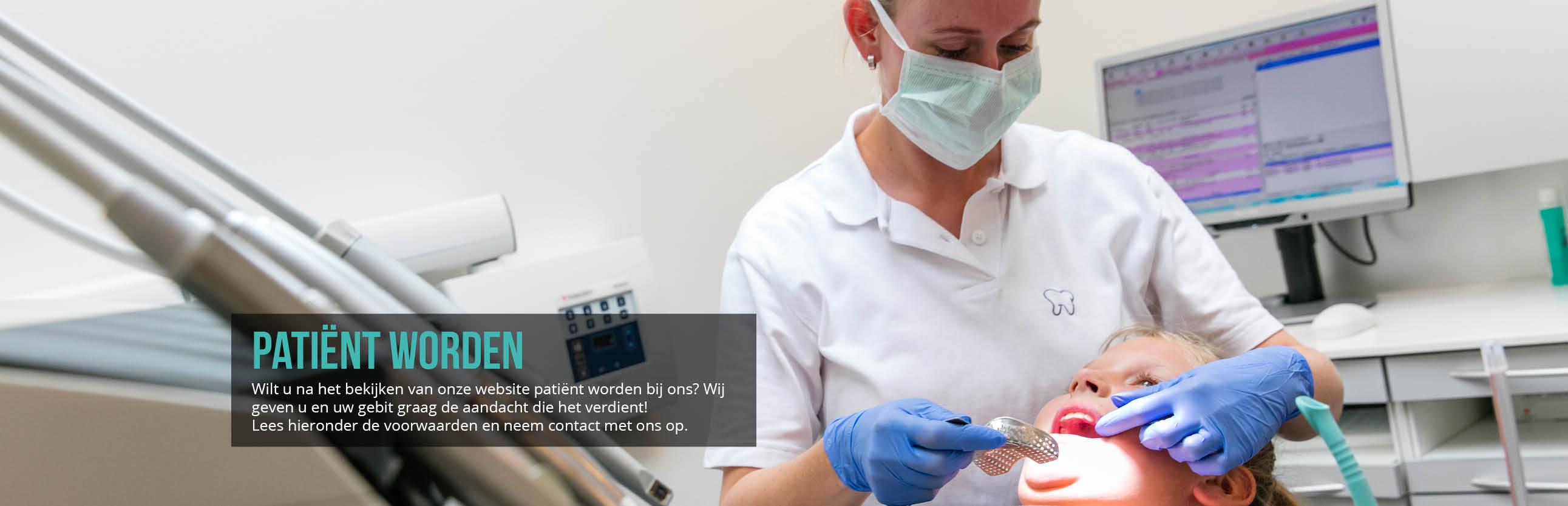 tandartsenpraktijk slot patient worden